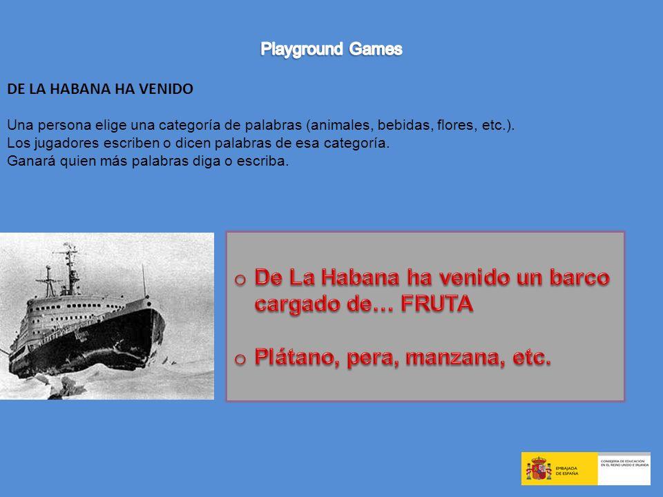 De La Habana ha venido un barco cargado de… FRUTA