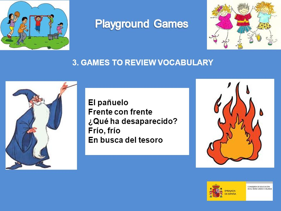3. GAMES TO REVIEW VOCABULARY