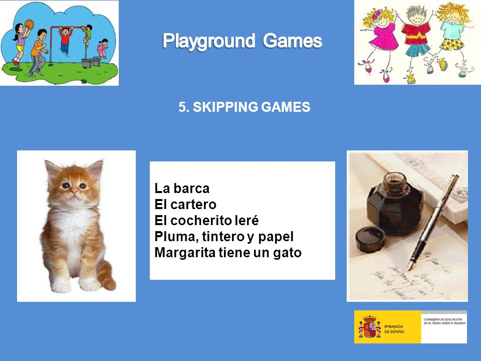 Playground Games 5. SKIPPING GAMES La barca El cartero