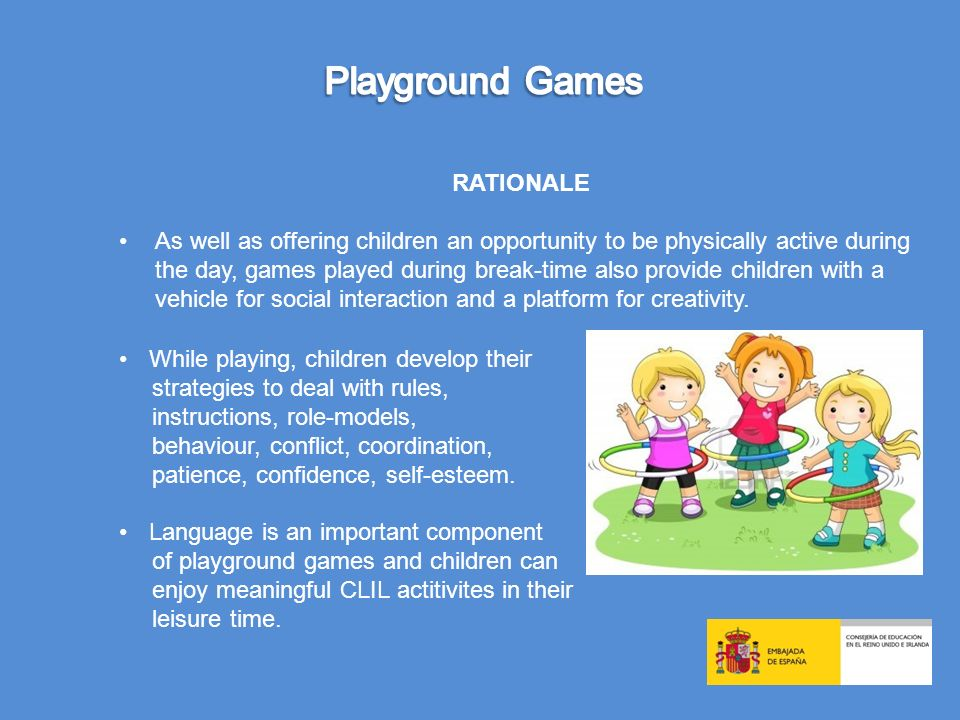 Playground Games RATIONALE
