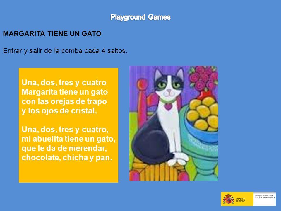 Margarita tiene un gato con las orejas de trapo y los ojos de cristal.
