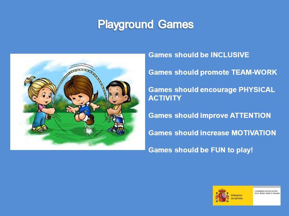 Playground Games Games should be INCLUSIVE