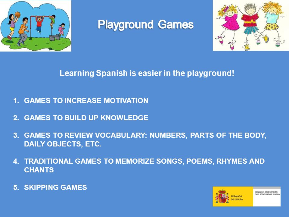 Learning Spanish is easier in the playground!