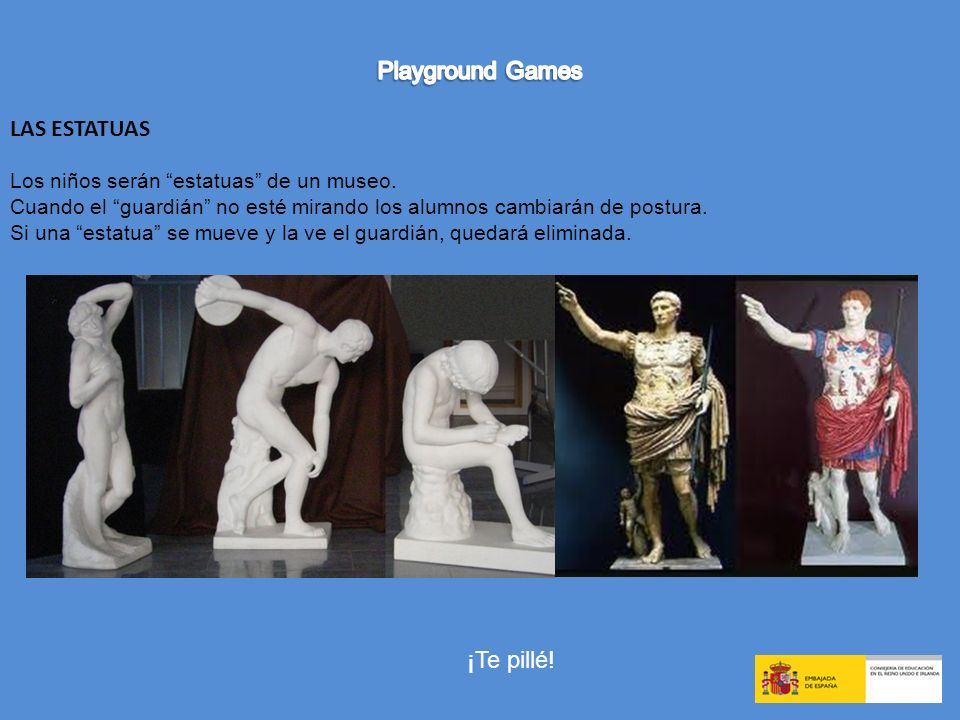 Playground Games LAS ESTATUAS ¡Te pillé!