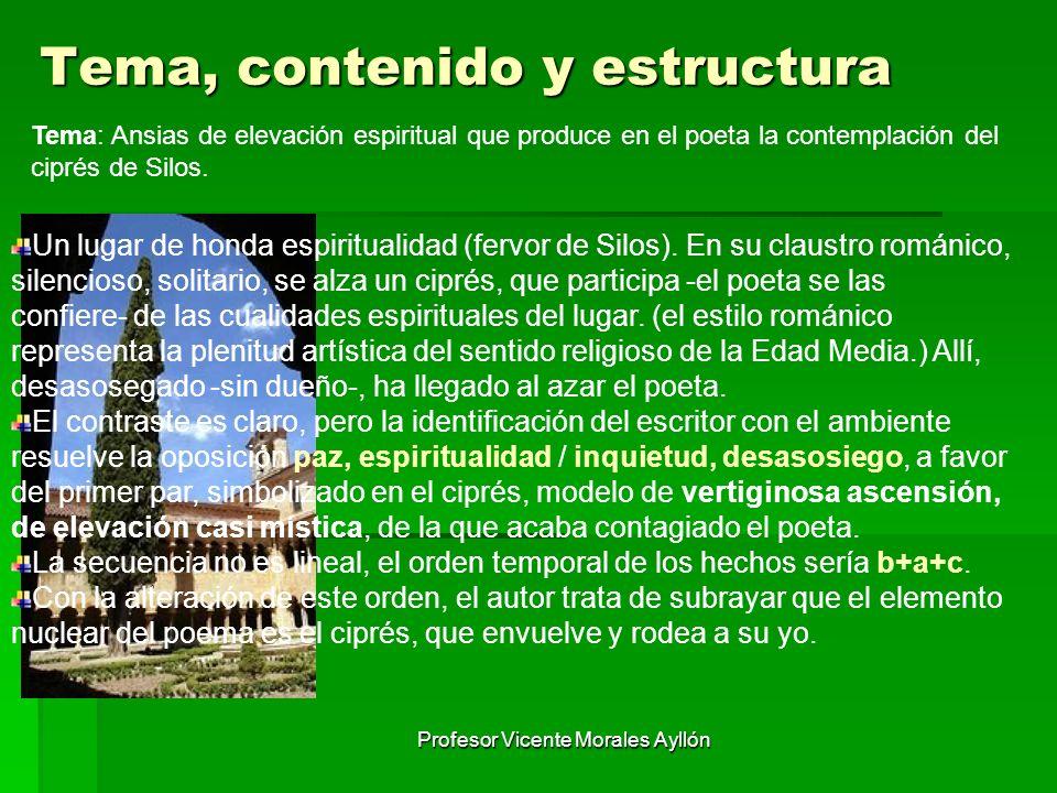 Tema, contenido y estructura