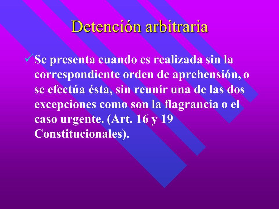 Detención arbitraria