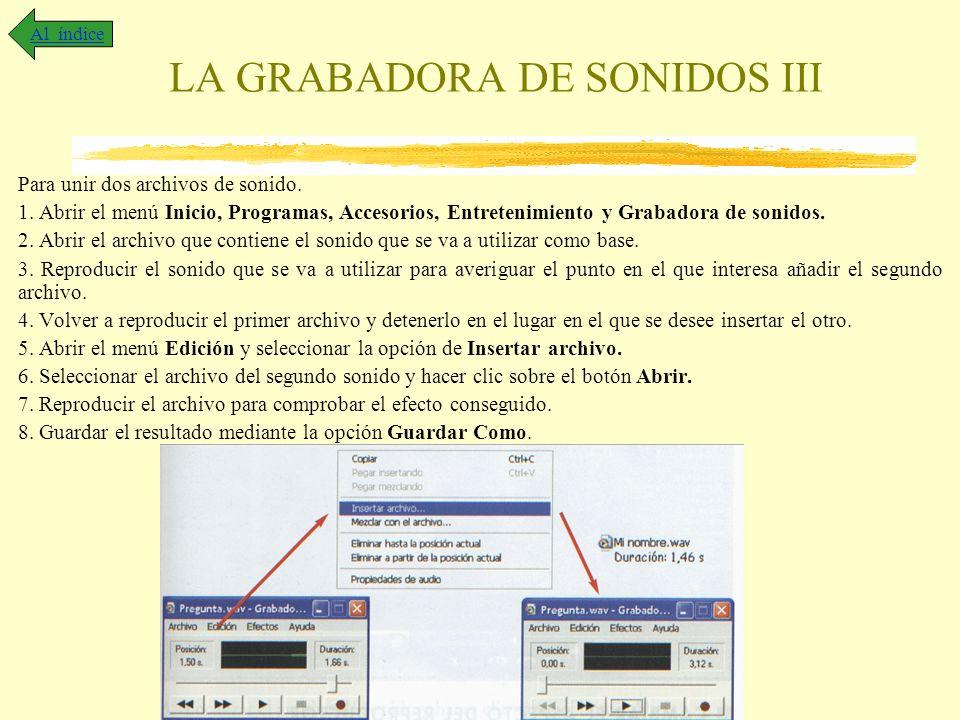 LA GRABADORA DE SONIDOS III