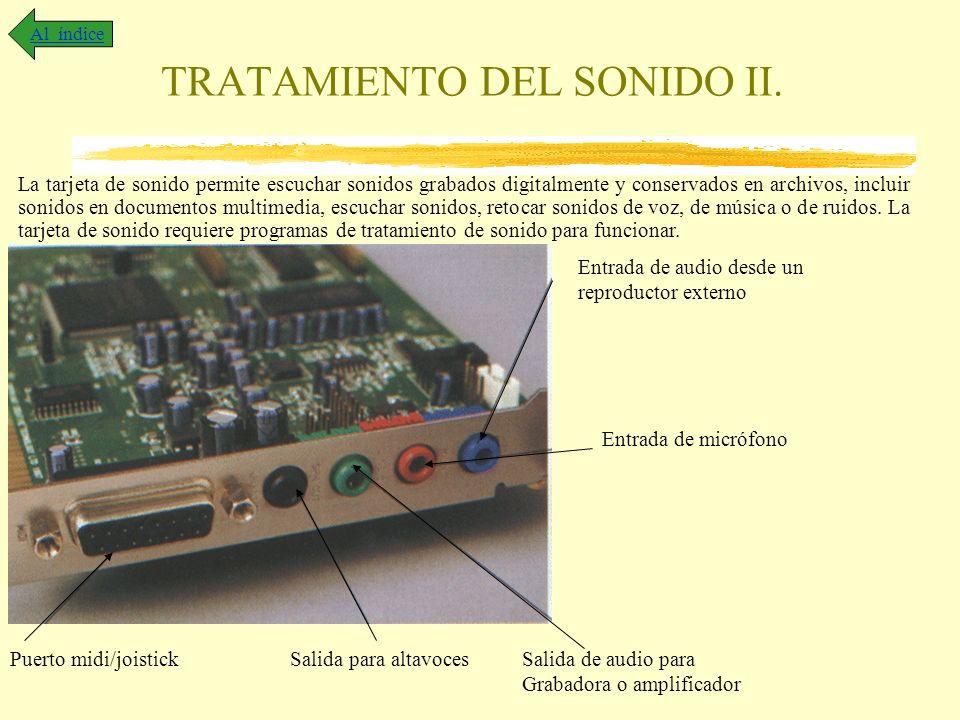 TRATAMIENTO DEL SONIDO II.