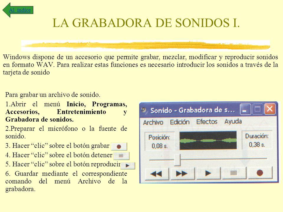 LA GRABADORA DE SONIDOS I.