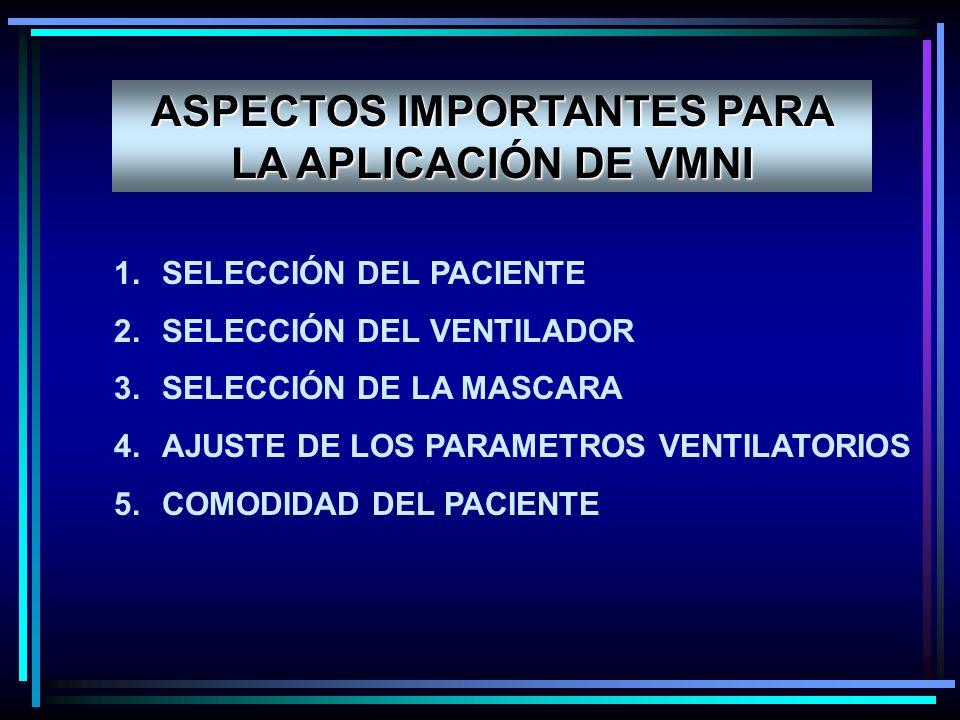ASPECTOS IMPORTANTES PARA LA APLICACIÓN DE VMNI