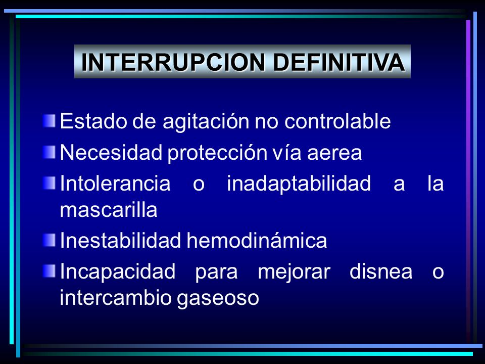 INTERRUPCION DEFINITIVA