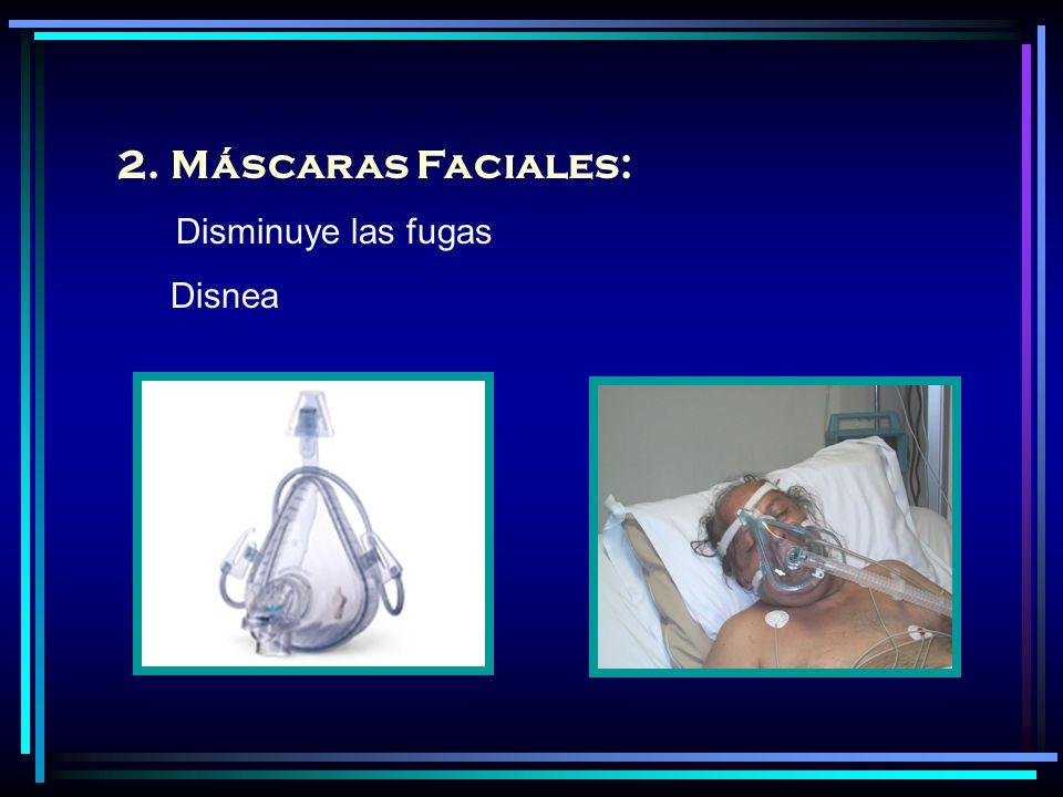 Máscaras Faciales: Disminuye las fugas Disnea