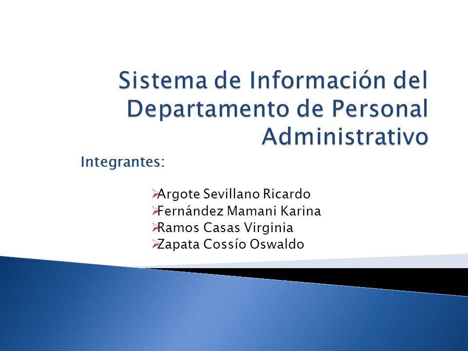 Sistema de Información del Departamento de Personal Administrativo