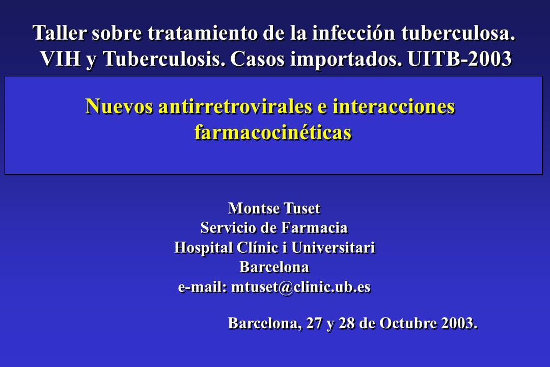 Taller sobre tratamiento de la infección tuberculosa.