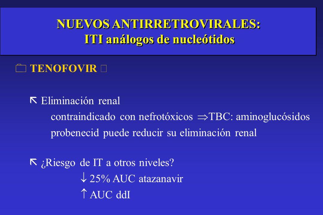 NUEVOS ANTIRRETROVIRALES: ITI análogos de nucleótidos