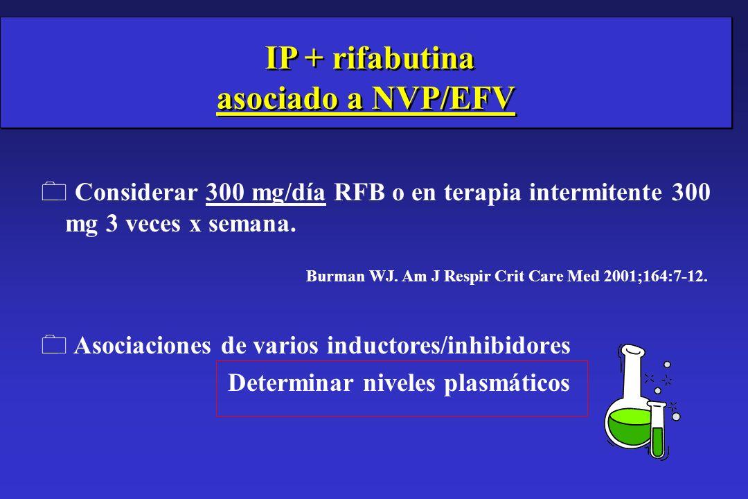 IP + rifabutina asociado a NVP/EFV