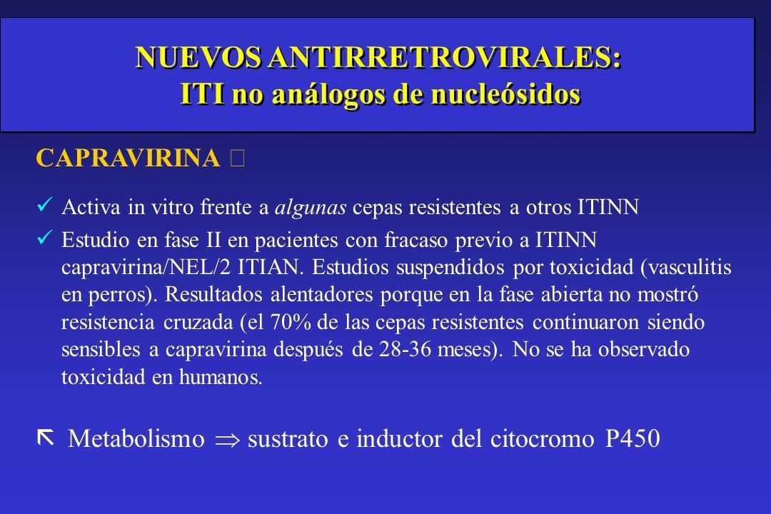 NUEVOS ANTIRRETROVIRALES: ITI no análogos de nucleósidos