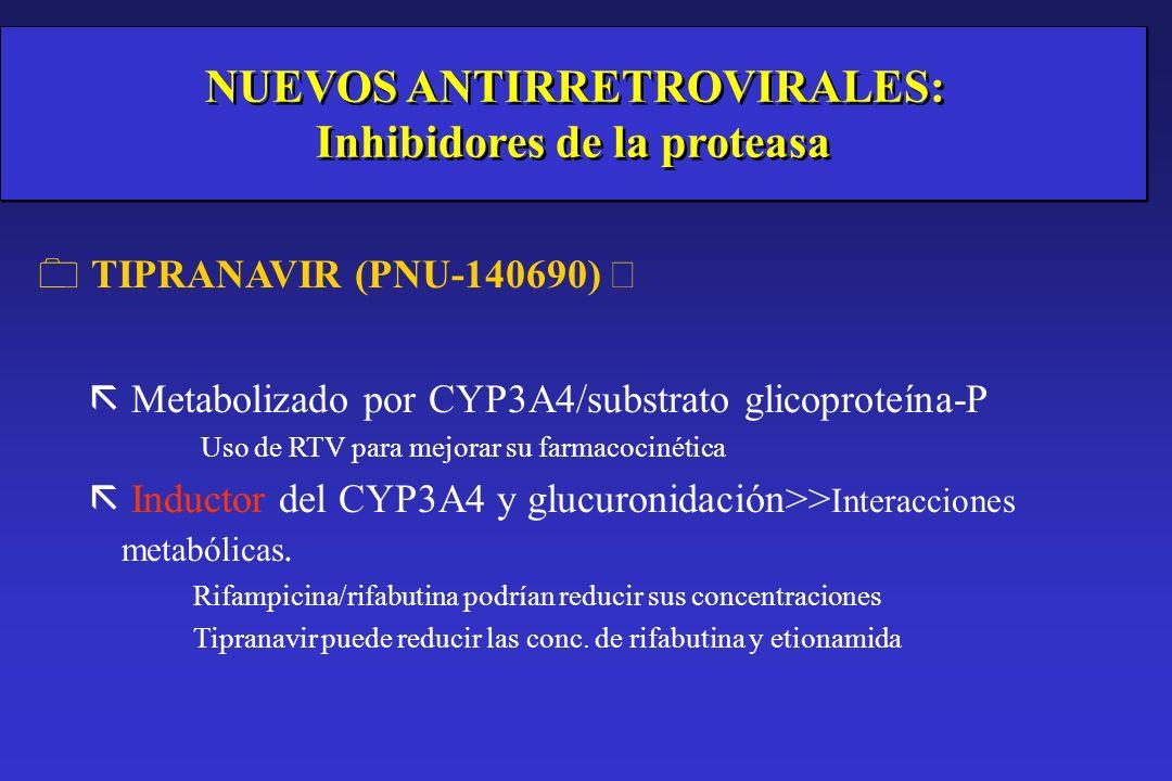 NUEVOS ANTIRRETROVIRALES: Inhibidores de la proteasa