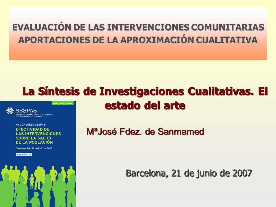 La Síntesis de Investigaciones Cualitativas. El estado del arte