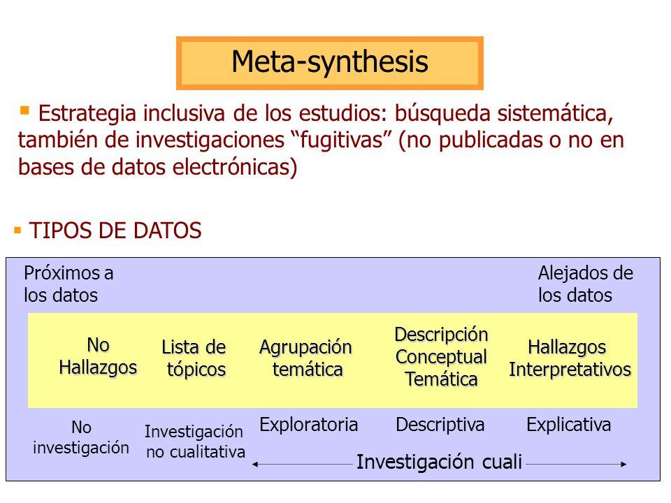 Meta-synthesis