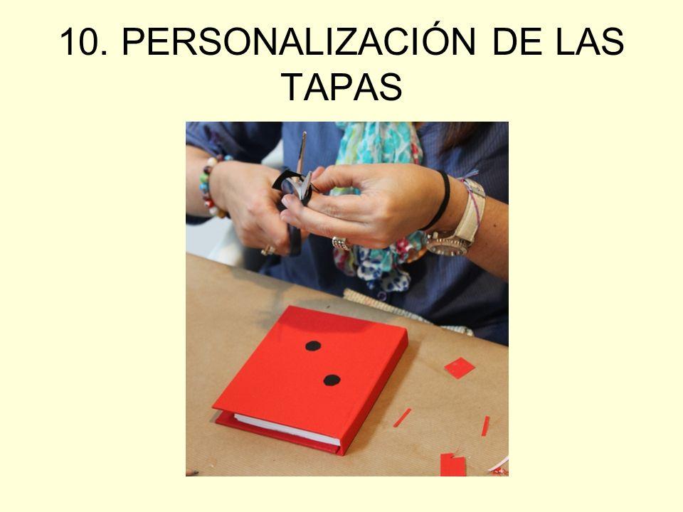 10. PERSONALIZACIÓN DE LAS TAPAS