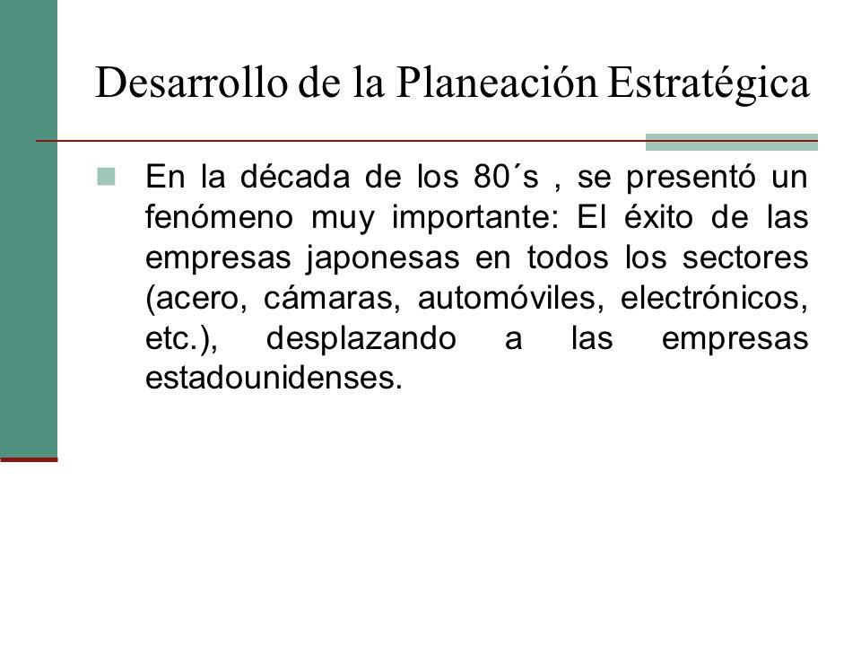 planeaci n estrat gica Planificaci n estrat gica  el planteamiento de una hip tesis operacional o hip tesis l gica en el caso de la planeaci n de.