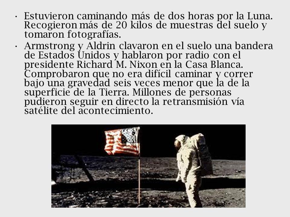 Estuvieron caminando más de dos horas por la Luna
