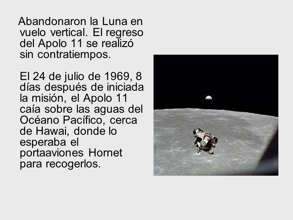 Abandonaron la Luna en vuelo vertical