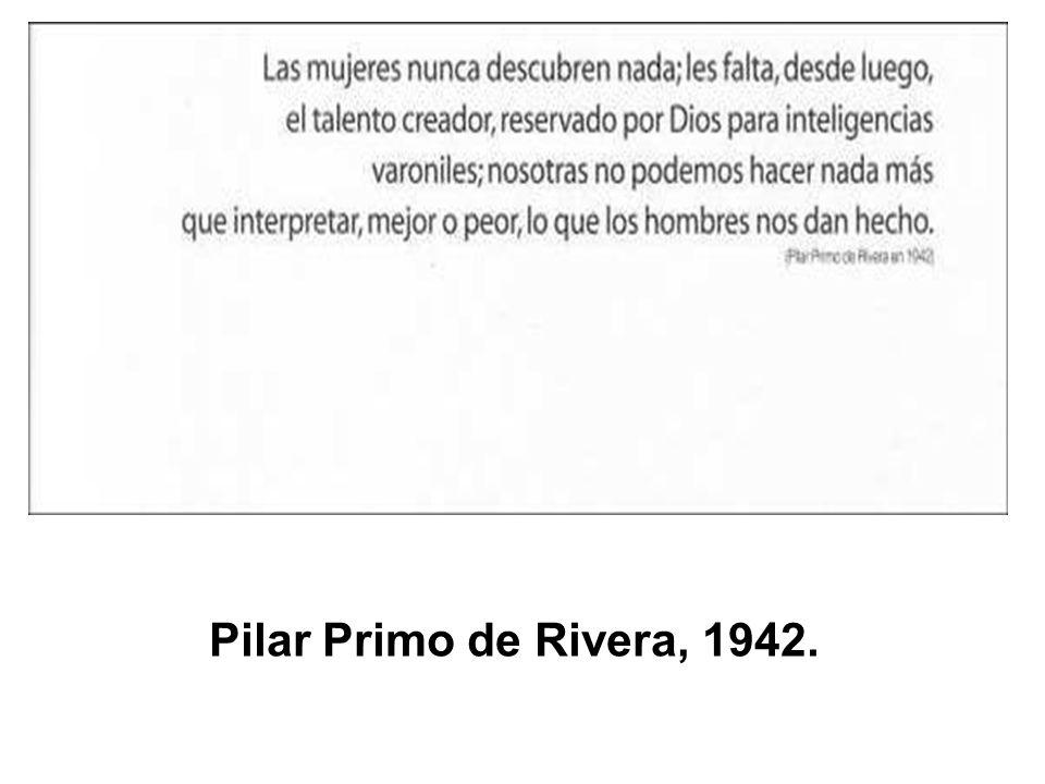 Pilar Primo de Rivera, 1942.