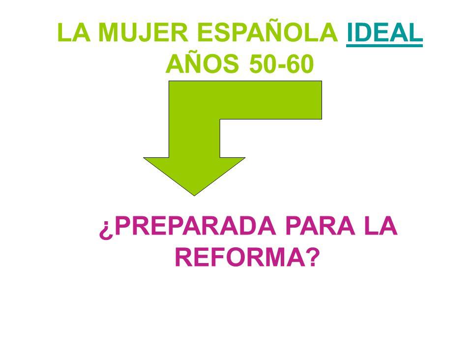 LA MUJER ESPAÑOLA IDEAL AÑOS 50-60 ¿PREPARADA PARA LA REFORMA