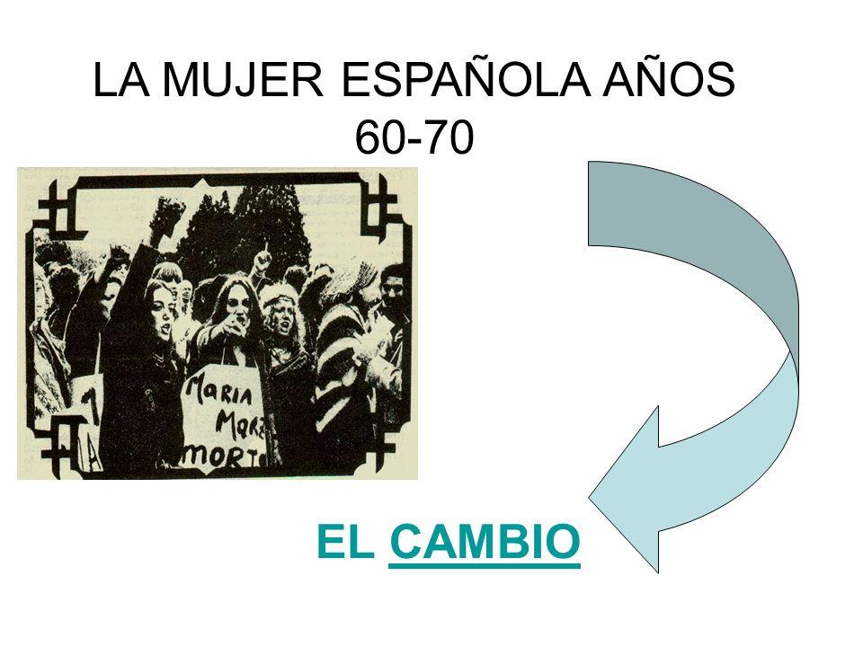 LA MUJER ESPAÑOLA AÑOS 60-70