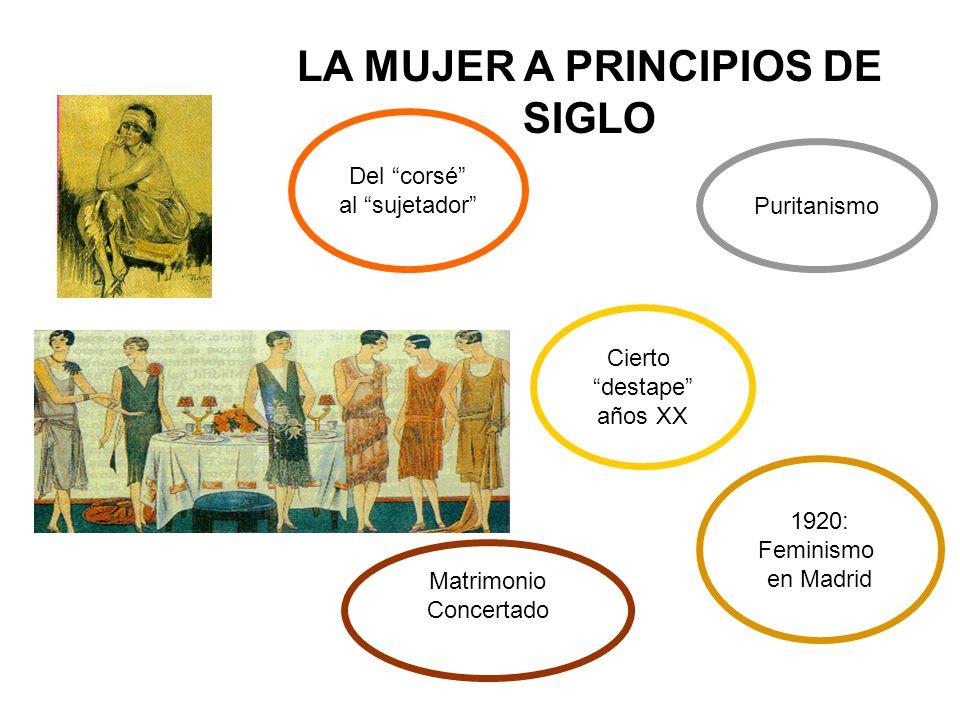 LA MUJER A PRINCIPIOS DE SIGLO
