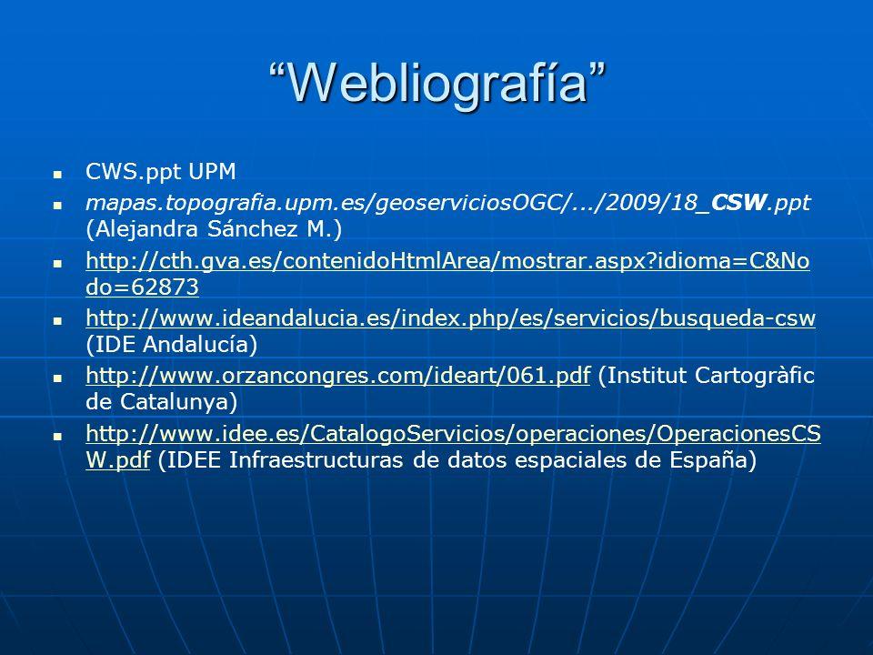 Webliografía CWS.ppt UPM