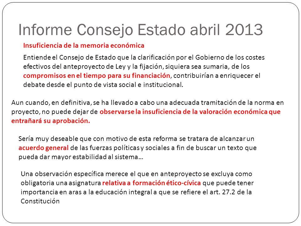 Informe Consejo Estado abril 2013