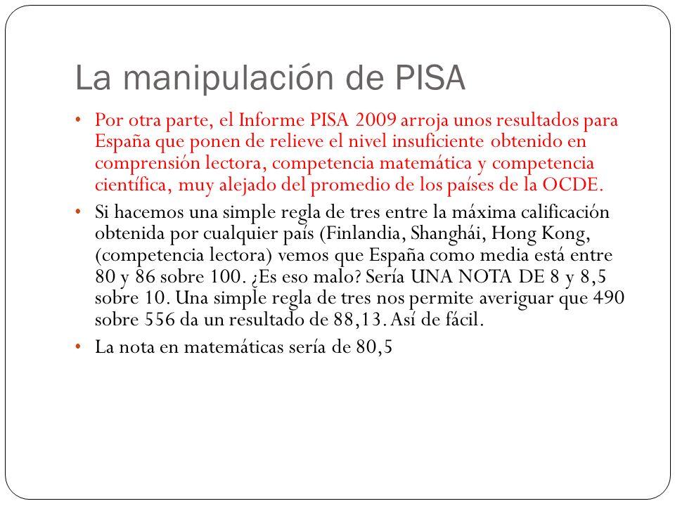 La manipulación de PISA