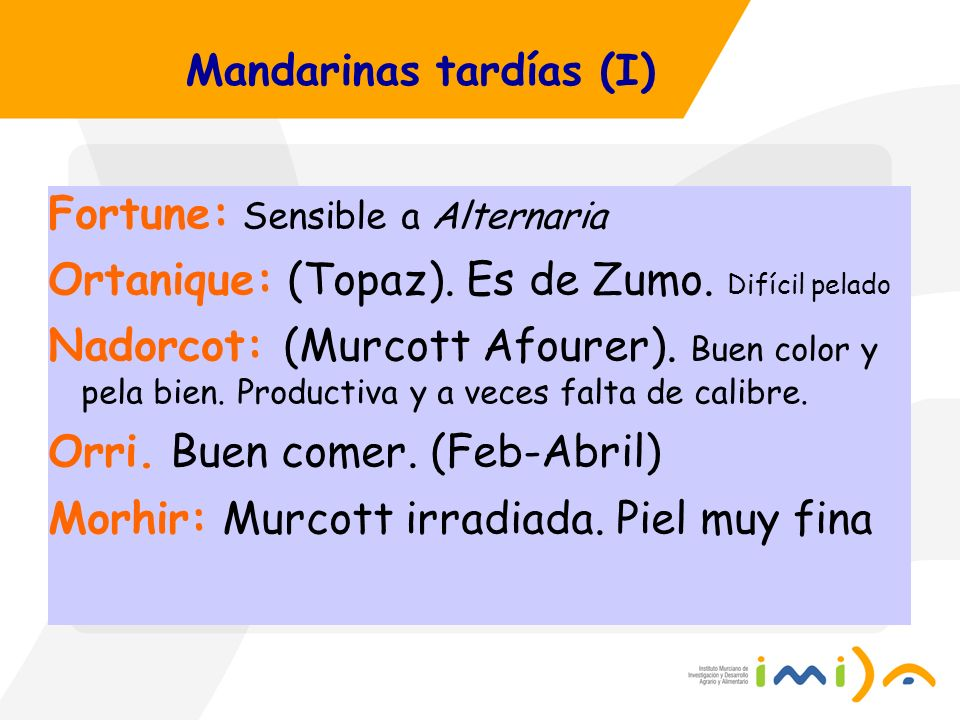 Mandarinas tardías (I)