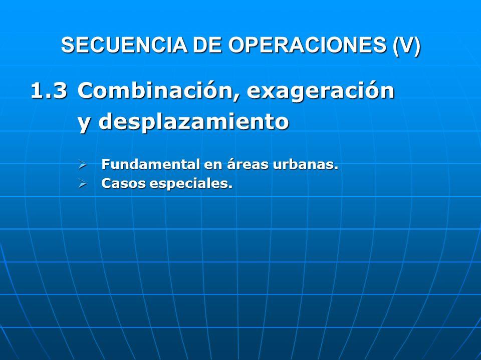 SECUENCIA DE OPERACIONES (V)