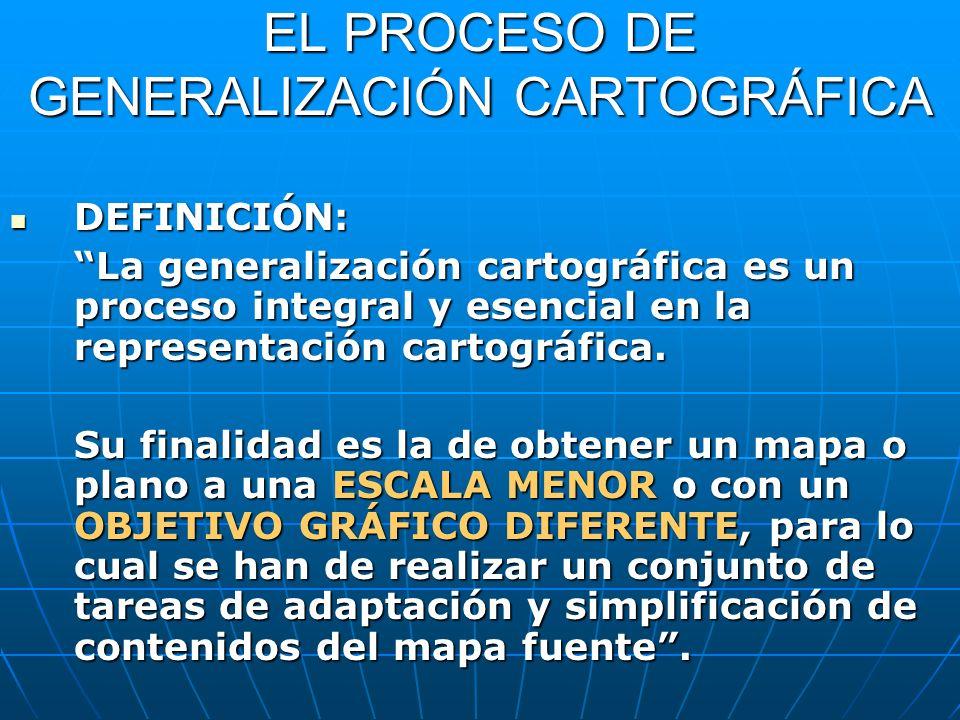 EL PROCESO DE GENERALIZACIÓN CARTOGRÁFICA