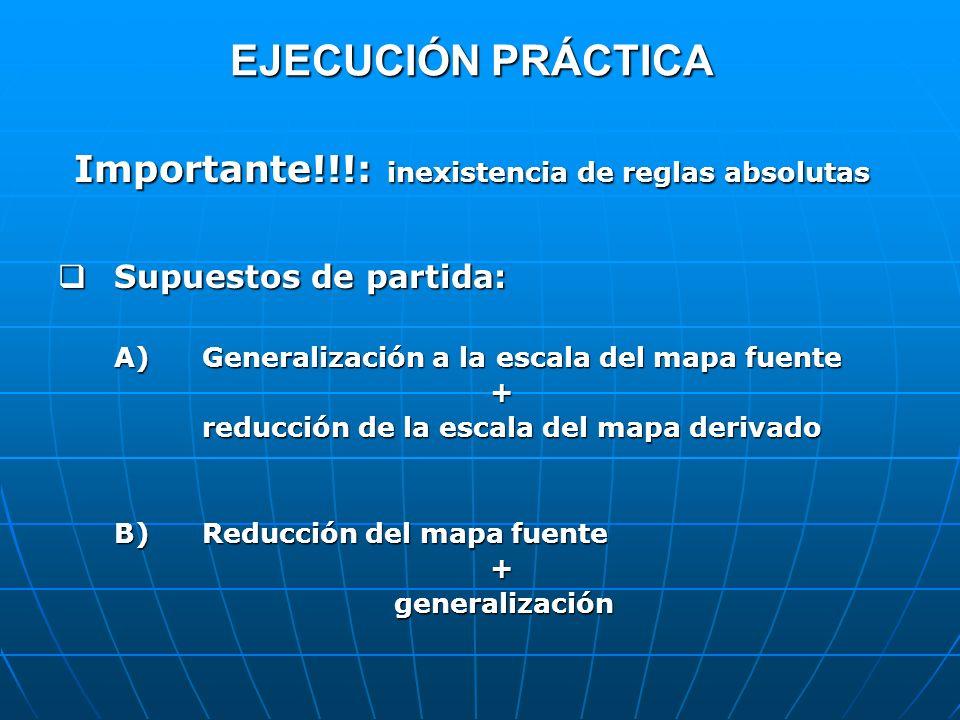 EJECUCIÓN PRÁCTICA Importante!!!: inexistencia de reglas absolutas
