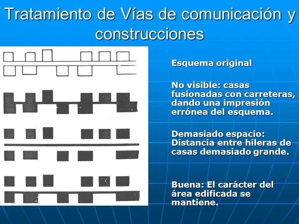 Tratamiento de Vías de comunicación y construcciones