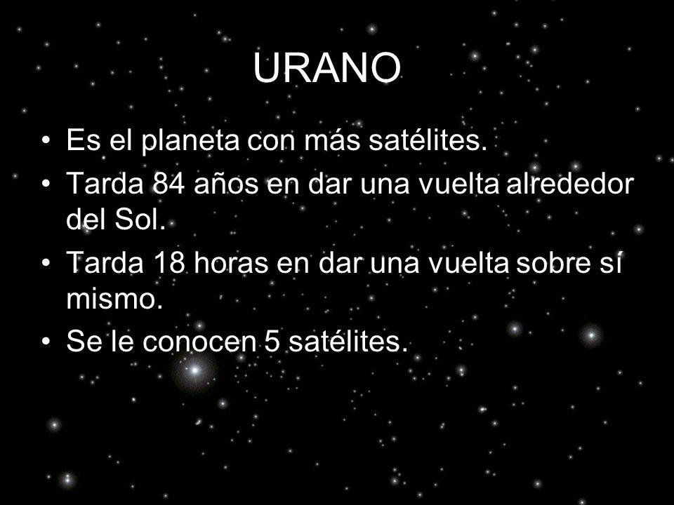 URANO Es el planeta con más satélites.