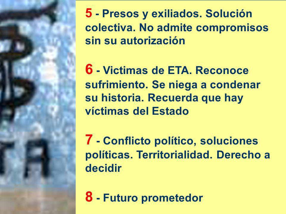 5 - Presos y exiliados. Solución colectiva