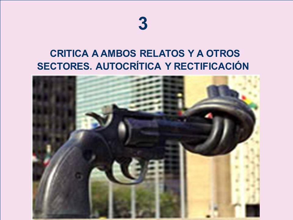 3 CRITICA A AMBOS RELATOS Y A OTROS SECTORES. AUTOCRÍTICA Y RECTIFICACIÓN