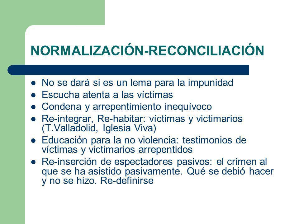 NORMALIZACIÓN-RECONCILIACIÓN