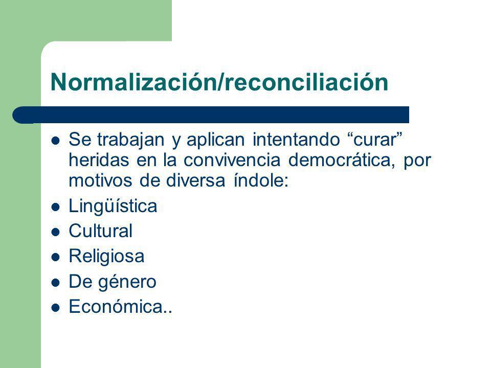 Normalización/reconciliación