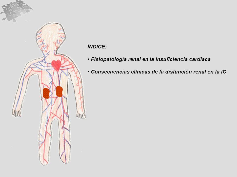 ÍNDICE: Fisiopatología renal en la insuficiencia cardiaca.