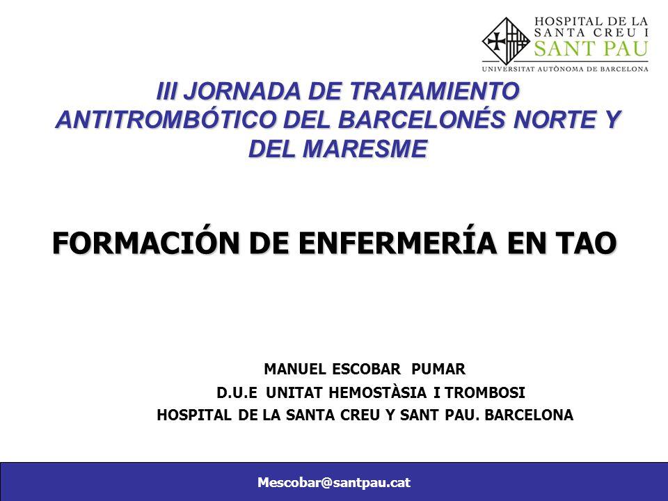 FORMACIÓN DE ENFERMERÍA EN TAO