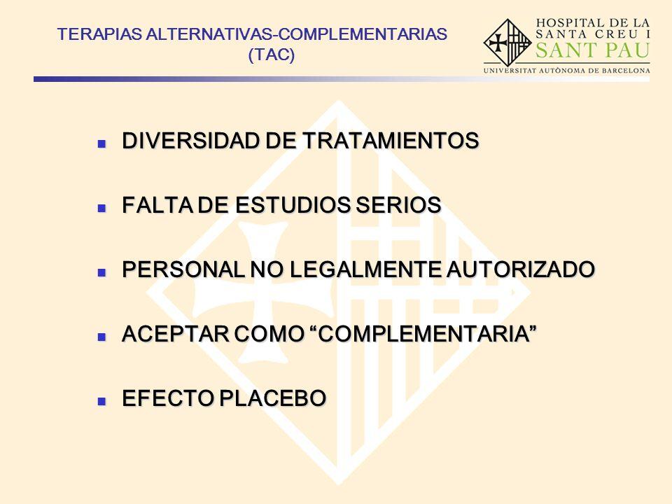 TERAPIAS ALTERNATIVAS-COMPLEMENTARIAS (TAC)