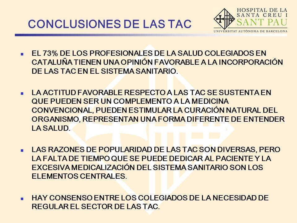 CONCLUSIONES DE LAS TAC