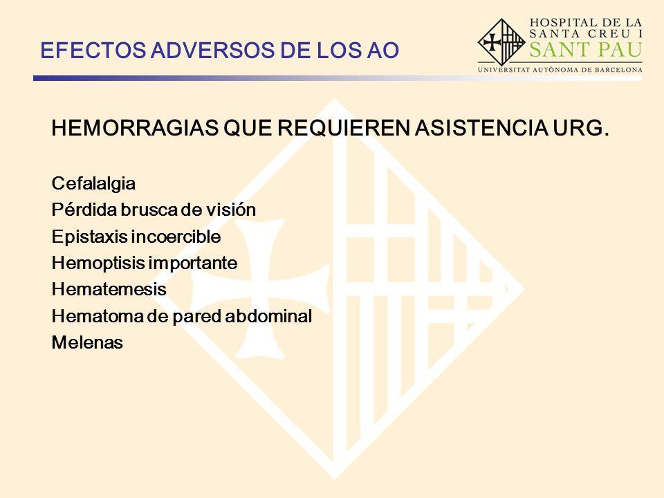 EFECTOS ADVERSOS DE LOS AO